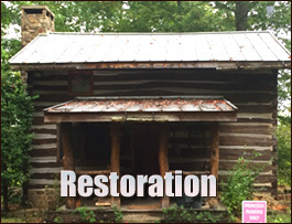 Log Cabin Restoration  Summit County, Ohio