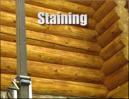Log Home Staining  Summit County, Ohio